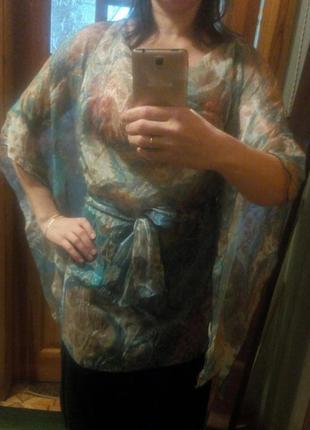 Шифоновая блуза кофточка