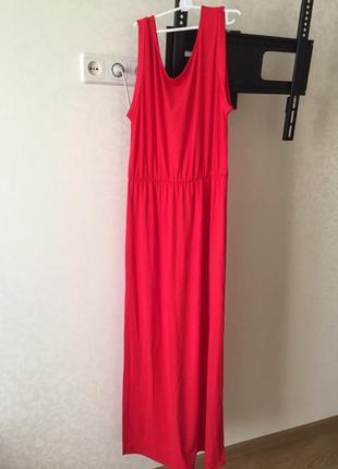 Женское длинное платье летнее h&m