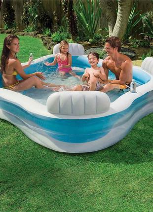 Детский надувной бассейн Intex  229х229х66 см