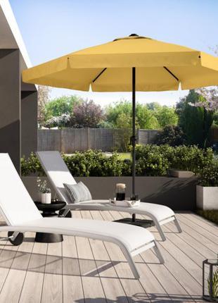 Большой садовый пляжный торговый зонт с наклоном, д. 3м новый