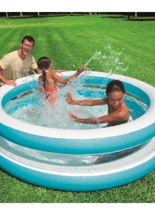 Детский надувной бассейн Intex Линза с прозрачными стенками, 203х