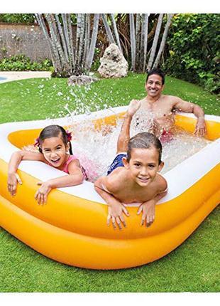 Детский надувной бассейн Intex Мандарин, 229х147х46см