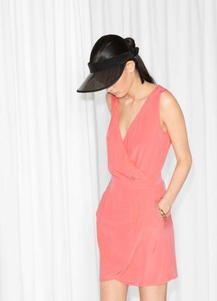 Лёгкое летнее платье на запах актуального кораллового цвета & ...