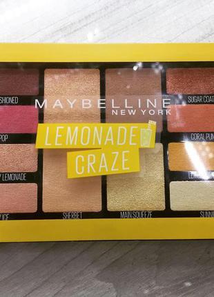 Палітра тіней maybelline lemonade craze