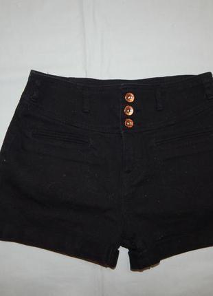 Шорты модные джинсовые с высокой талией на девочку 12-13 лет 1...