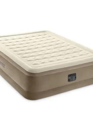 Надувная кровать матрас Intex 152х203х46, встроенный электрически
