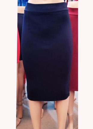Красивая юбка стрейч-коттон карандаш за колено
