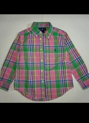 Рубашка яркая с длинным рукавом хлопок хлопковая