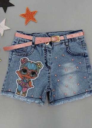 Джинсовые шорты LOL для девочки
