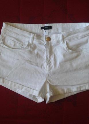 Белые шорты джинсовые