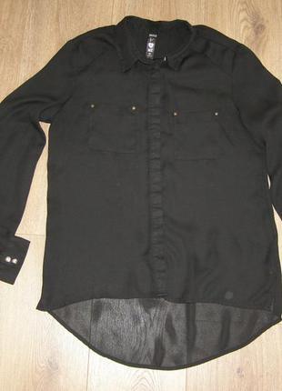 Блуза, рубашка свободного кроя zebra, р.с