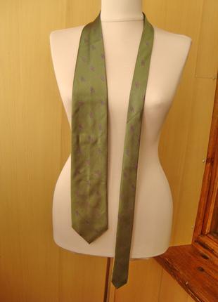 H&M, скорпион, шелк, галстук.