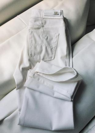 Белые брюки лето тонкая шерсть armani jeans