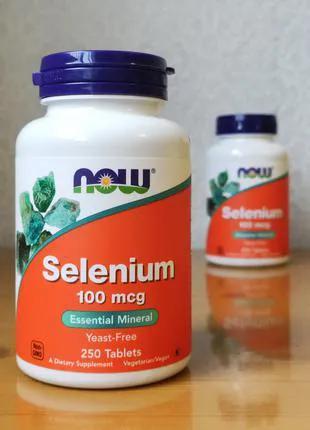 Селен, Selenium 100 мкг, Now Food, 250 капсул