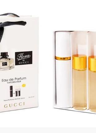 Парфюмированная вода с феромонами gucci flora by gucci 3х15 мл