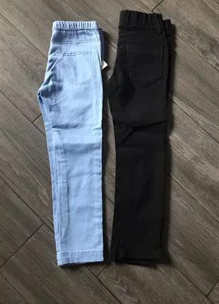 джинсы джегенсы  на девочку 4-6л