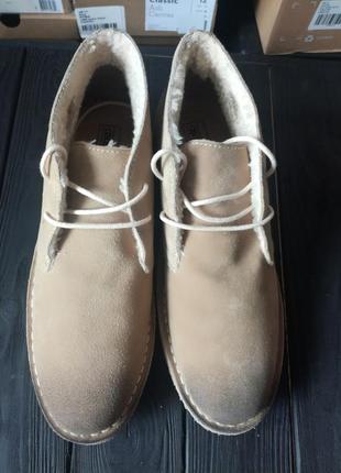 Новые мужские зимние кожаные ботинки asos с мехом