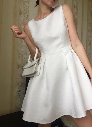 Белое платье zibi london для asos