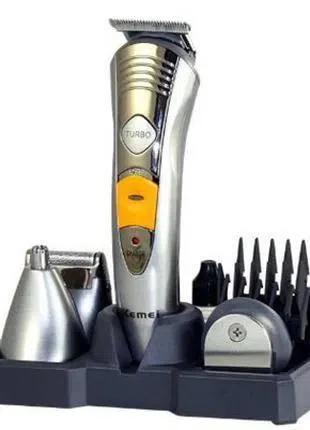 Машинка для стрижки волос бритва триммер Kemei KM 580-А 7 в 1