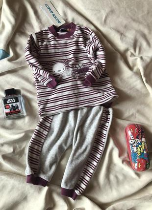 Спортивный костюм ,велюровый  детский костюм bonne на 1 годик