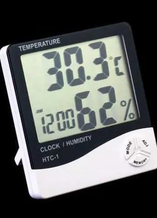 Метеостанция часы  электронный термометр HTC-1