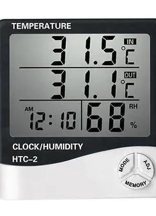 HTC-2 термометр гигрометр часы с выносным датчиком