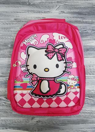 Детский рюкзак на девочку hello kitty с 3d эффектом розовый