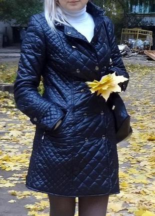 Стеганное пальто куртка ветровка черное incity 44