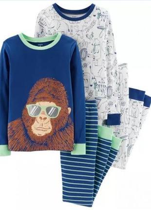 """Carters комплект пижам """"горилла"""" из хлопка для мальчика 6 лет,..."""