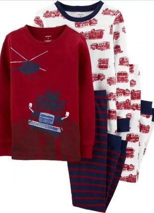 Хлопковый комплект пижам  для мальчика из 2 шт. 6 лет, 8 лет