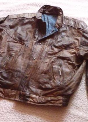 Большая кожаная мужская куртка. лот 606