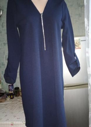 Стрейчевое платье свободного кроя р. 46