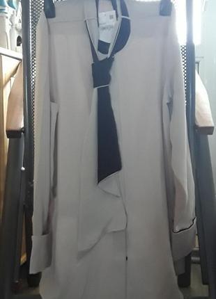 Супер элегантная шелковая блузка в деловом стиле ,офис, c&a ге...