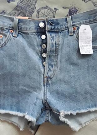 Легендарные джинсовые шорты levis 501 с бахромой w 31