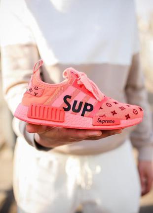 Классные женские кроссовки louis vuitton x supreme x adidas nm...