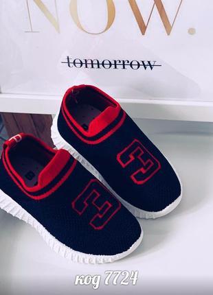 Детские кроссовки для мальчиков и девочек синего цвета из обув...