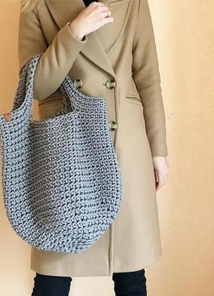 Авоська вязаная сумка-шоппер