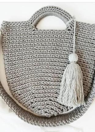 Авоська шоппер вязаная сумка экосумка