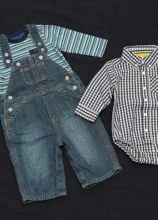 Комплект на мальчика (комбинезон baby gap, реглан gymboree и б...