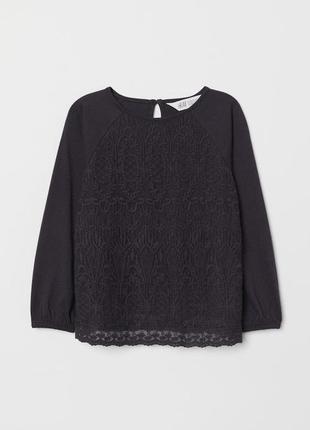 Кружевная блузка h&m