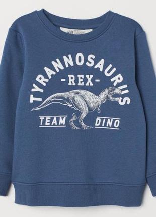 Красивый свитшот с динозавром h&m