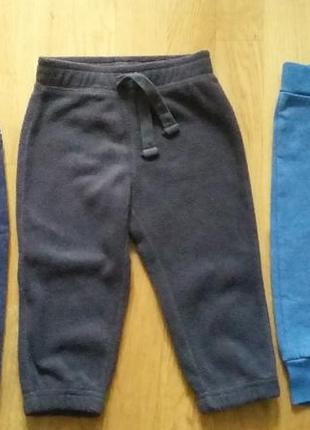Комплект теплых фирменных штанишек на мальчика 12-18 м