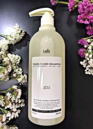 Шампунь с экстрактом чайного дерева family care shampoo - la'dor