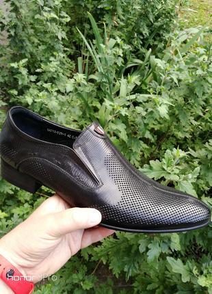 Туфли мужские Carlo Delari из натуральной кожи, лето