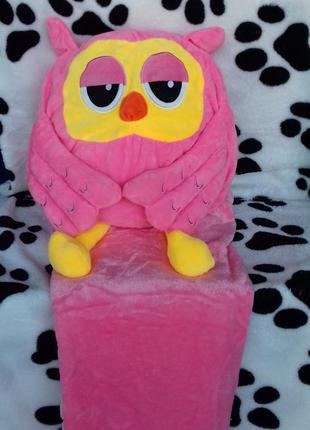 Плед+ подушка= игрушка совушка