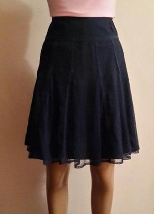 🔥кружевная юбка с завышенной талией promod для офиса или школы🔥