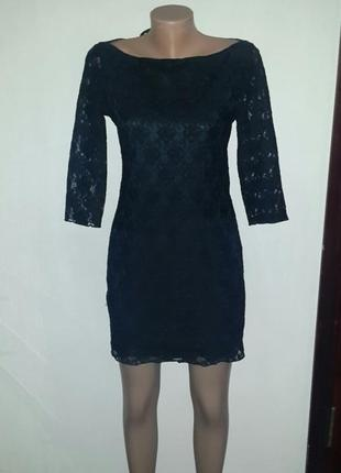 🔥распродажа👗маленькое черное кружевное платье рукав 3/4 tfnc l...
