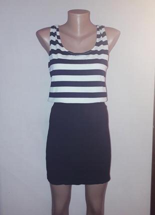 Платье в морском стиле в полоску ax paris