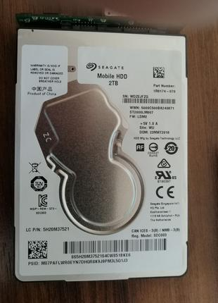 """Seagate Mobile 2 Tb ( 2000 Gb ) HDD ST2000LM007  2.5"""""""