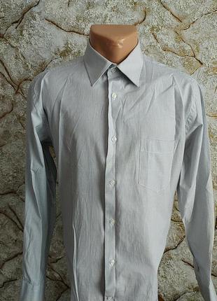 Мужская рубашка в полоску slim fit